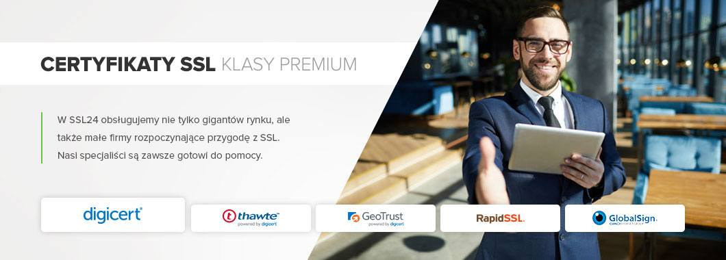 Certyfikaty SSL klasy Premium – nasze marki