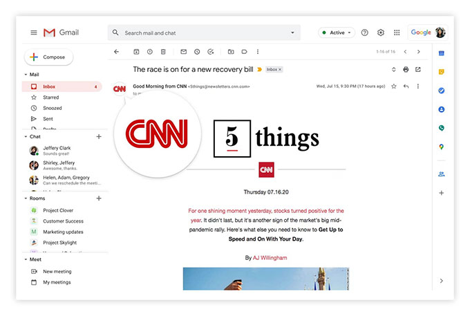 BIMI w poczcie Gmail