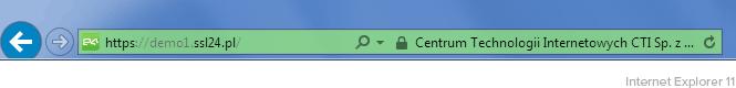 Zielony pasek adresu Internet Explorer