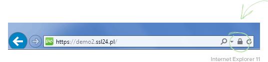 Symbol kłódki Internet Explorer