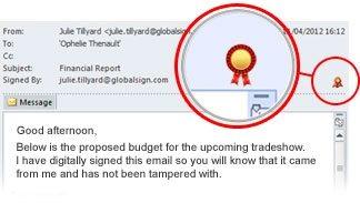 Wiadomość e-mail podpisana cyfrowo