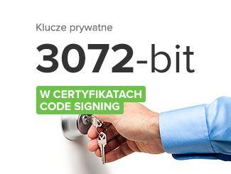Certyfikaty Code Signing - nowe wymagania dotyczące kluczy prywatnych